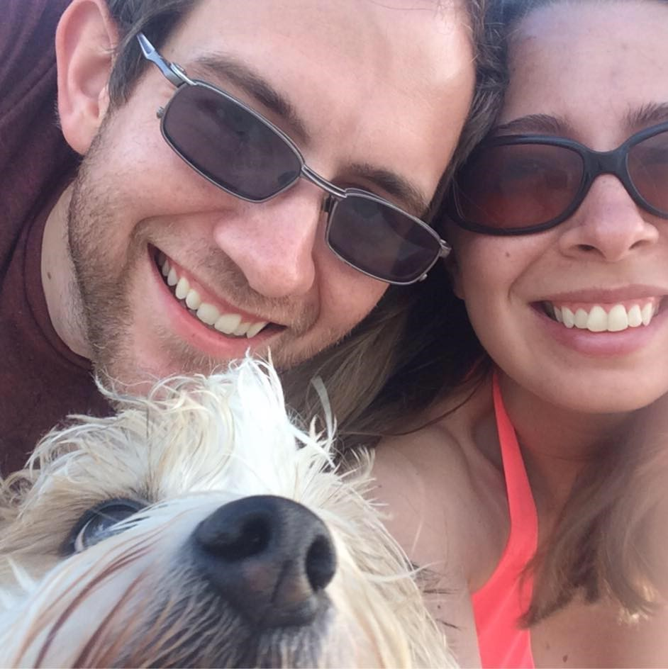 Michael Koehler with wife (Carrie) and dog (Benjamin)